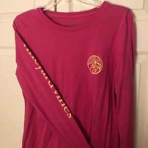 Vineyard Vines Long Sleeve Magenta T Shirt Size S